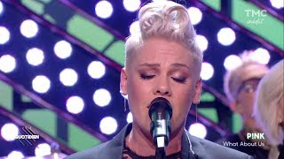 P!nk - What About Us (live on Quotidien 05-12-2017) HD