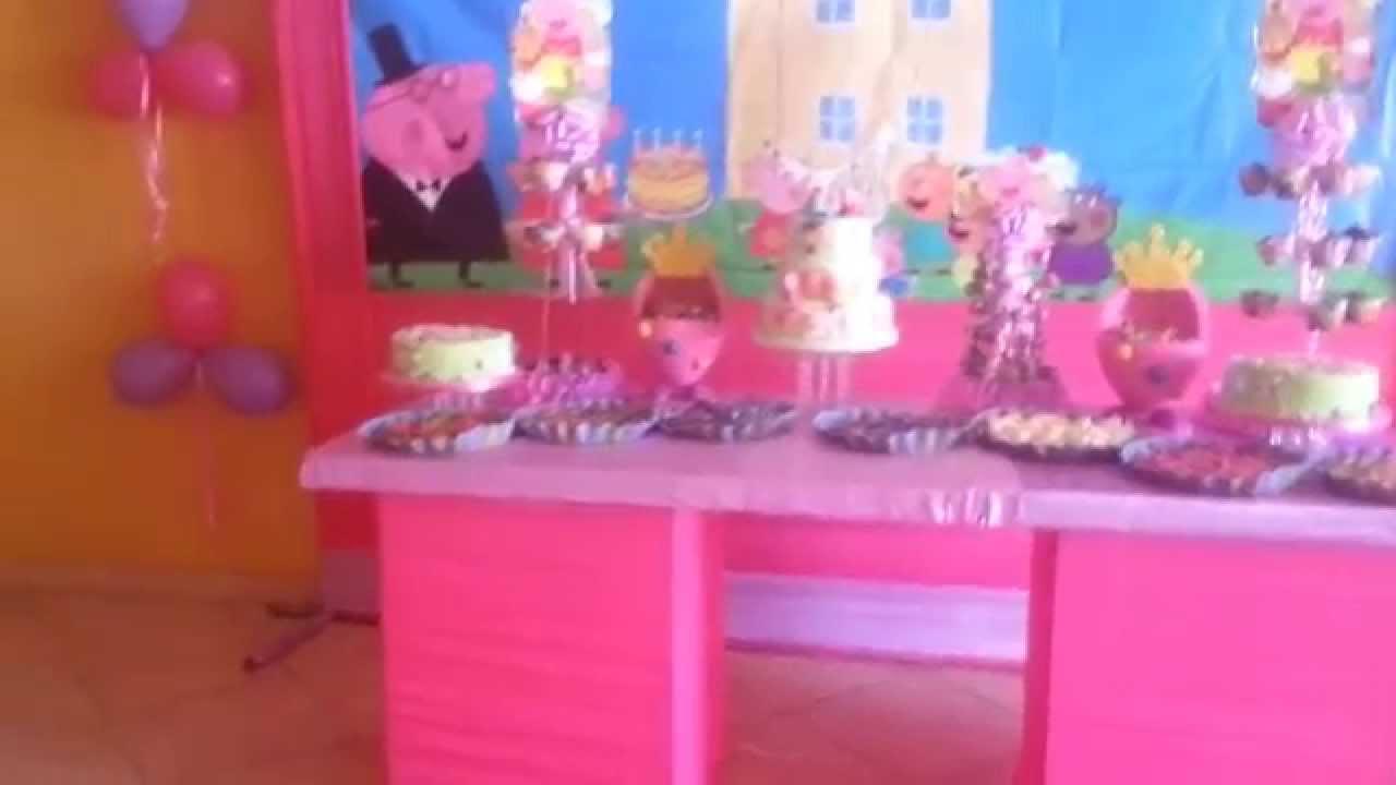 Decoracion peppa pig fiesta infantil youtube - Decoracion fiesta infantil ...