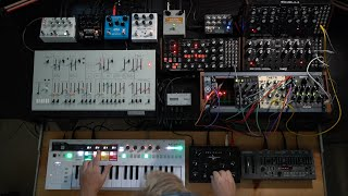 Massive jam w/ Keystep Pro, Subharmonicon, ARP Odyssey, DFAM, SH-01a, MI Clouds, and lots of effects