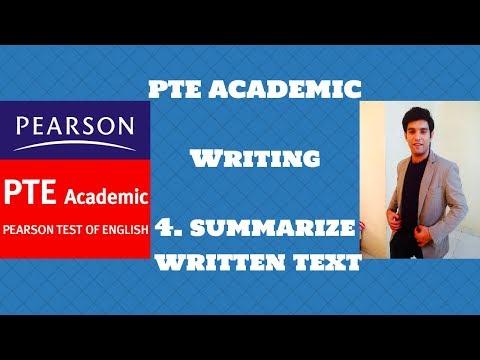 PTE ACADEMIC WRITING : SUMMARIZE WRITTEN TEXT