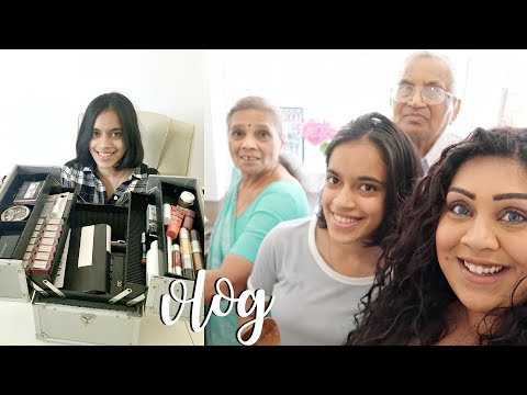 COOKING WITH MY GRANDMA & MAKEUP DECLUTTER / Nishi V