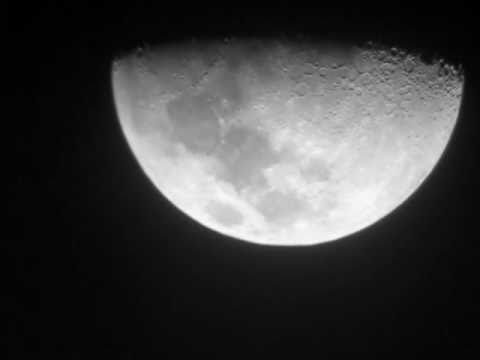 The moon through bresser skylux refractor youtube