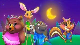 Сказка для детей СПОКОЙНОЙ НОЧИ ЛЕСНЫЕ ЖИВОТНЫЕ. Сказки перед сном на канале Носики Курносики