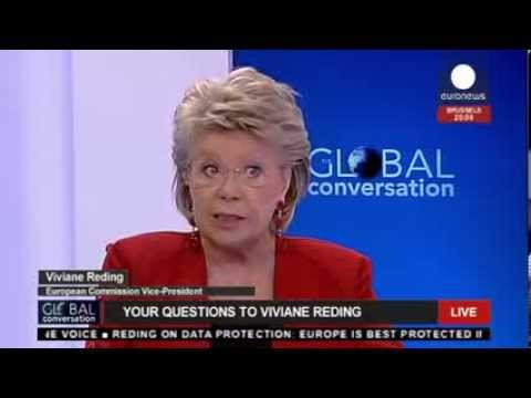 Viviane Reding on the Global Conversation (recorded LIVE feed)