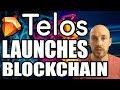 New Crypto, TELOS, Launches Blockchain! Telos(TLOS) is an EOSIO-based blockchain, improving upon EOS