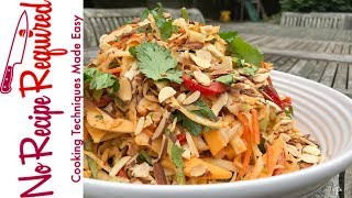 Chipotle Coleslaw With Apples & Almonds - NoRecipeRequired.com