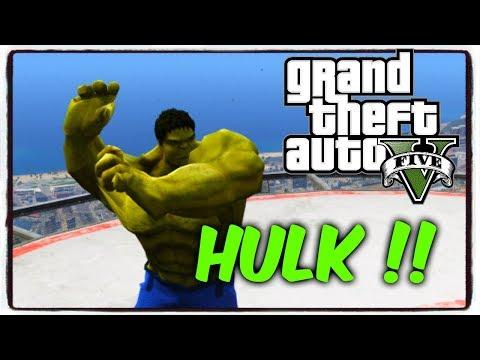 HULK HANCURKANN !    GTA V MOD SUPER HERO INDONESIA