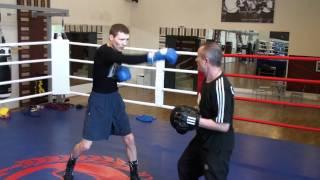 Тренировка по боксу (лапы)