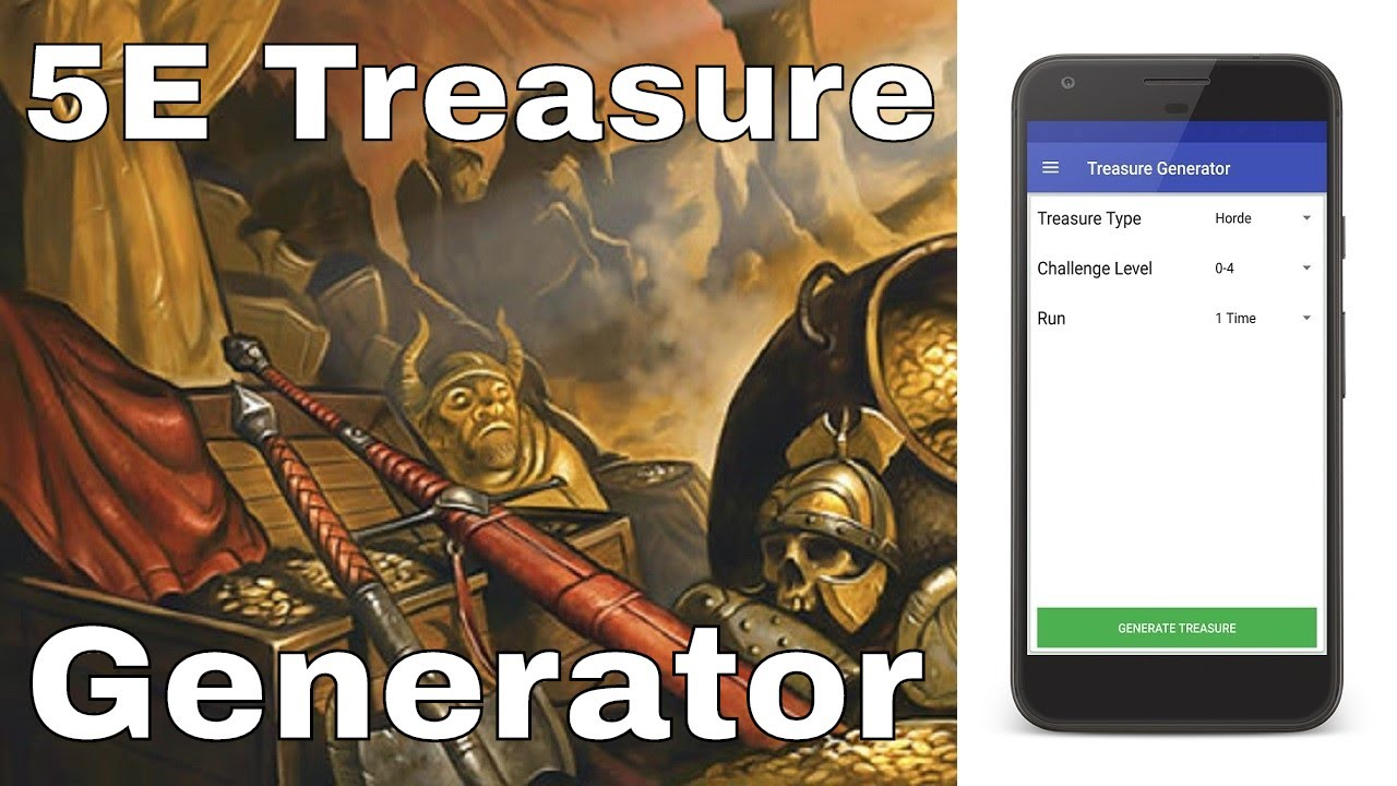 5E Generator d&d: 5e treasure generator application review (android)