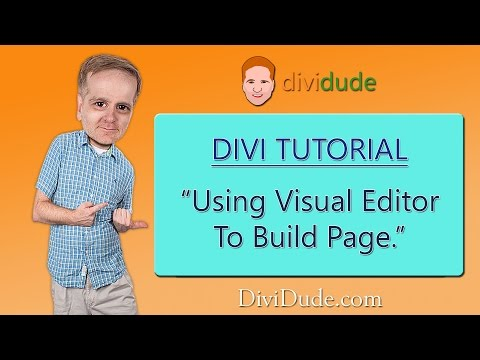 Divi 3 Tutorial: Using Visual Editor to Build Page - Video 01