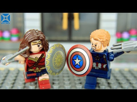 Lego Avengers vs Justice League  - Wonder Woman vs Captain America | Lego Action Series