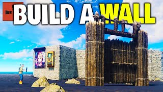 Placing Walls around my Island and Raiding Coastline Bases! - Rust Solo Survival