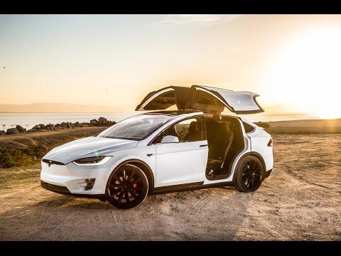 Driving Tesla Model X Autopilot