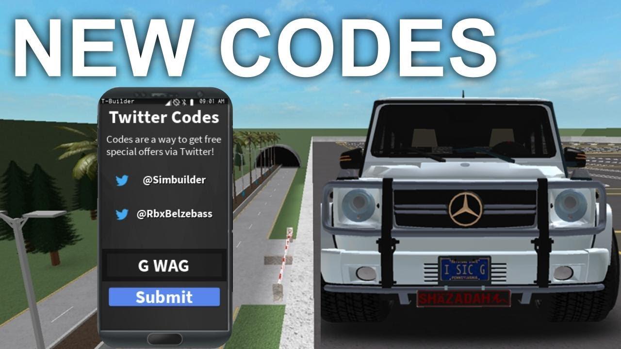 New Vehicle Simulator Codes May 2020 Roblox Youtube