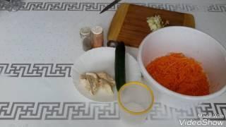 """Салат """"Корейская морковка с куриной грудкой""""."""