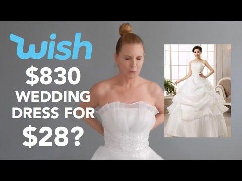 I Bought A $28 WEDDING DRESS On WISH | skip2mylou