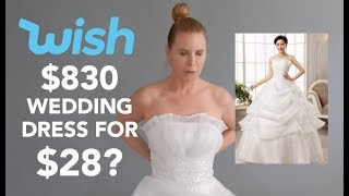I Bought A $28 WEDDING DRESS On WISH | skip2mylou
