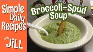 Broccoli Potato Soup Vegan Style