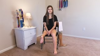 Teenage Ballerina Uses Ankle As Knee Joint