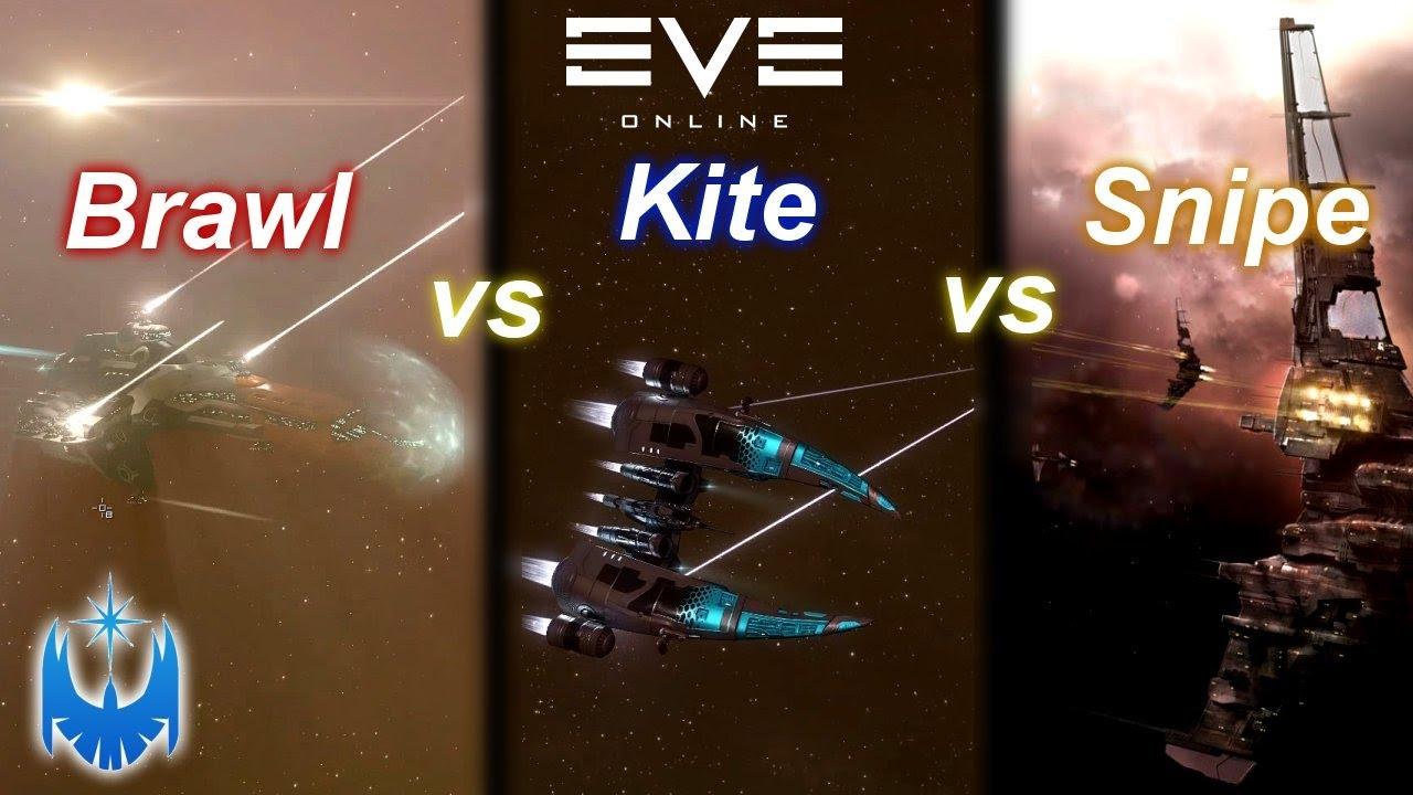 Eve Online's Three Basic PvP Tactics Explained! Brawling vs Kiting vs Sniping!