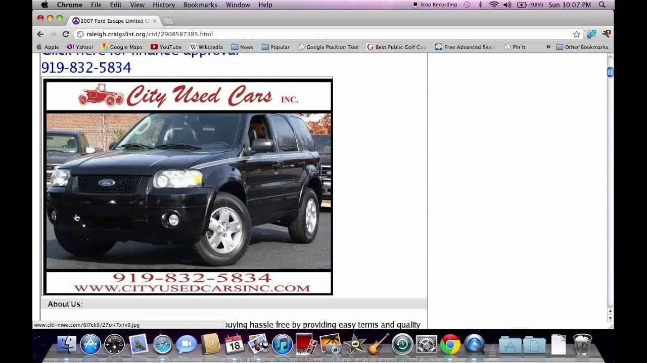 Raleigh Used Cars >> Craigslist Raleigh NC Used Cars - Finding Deals Online - YouTube