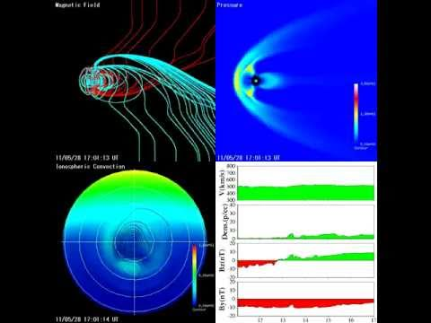 Magnetosphere 2011 05 28 - High pressure, temporary loss of magnetic Southpole