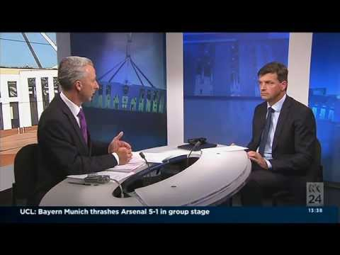 November 5 Angus Taylor talking on ABC TV Capital Hill about genuine tax reform