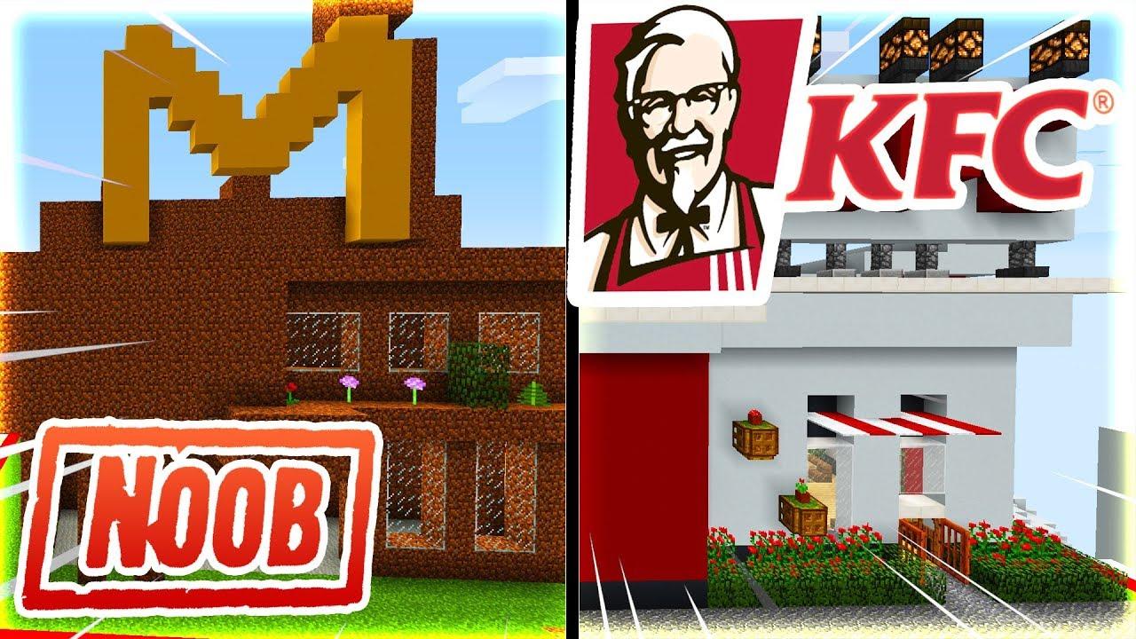 Thử Thách Xây Nhà KFC và MCDONALD Nào Đẹp Nhất Trong Minecraft