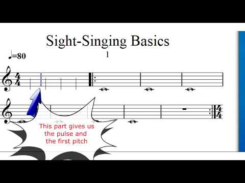 18 Basic Sight Singing Exercises: Learn to sing notes