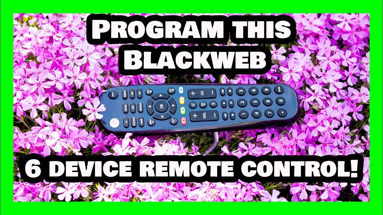 Programming/Setup This Blackweb 6 Device Universal Remote in