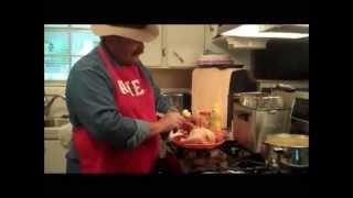 Cajun Deep Fried Cornish Game Hen