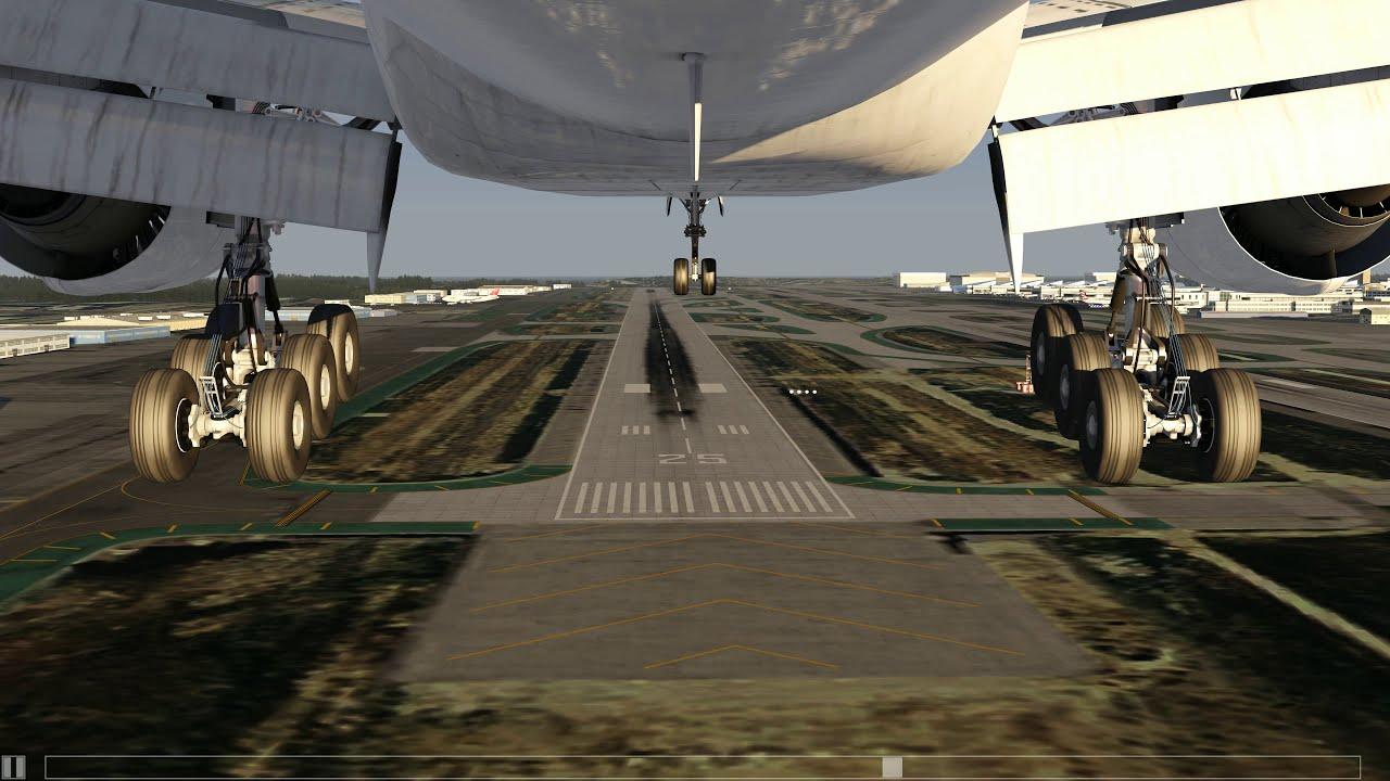 Boeing 777-300ER lands at Los Angeles [Gear CAM] - Aerofly