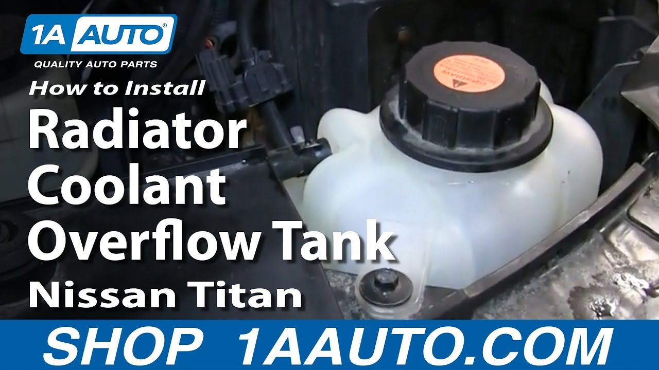 small resolution of how to install replace radiator coolant overflow tank 2004 14 nissan titan youtube