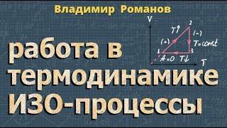 физика РАБОТА В ТЕРМОДИНАМИКЕ - изотермический - изохорный - изобарный процессы