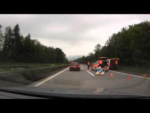 2013, Unusual Swiss police road block on the autobahn