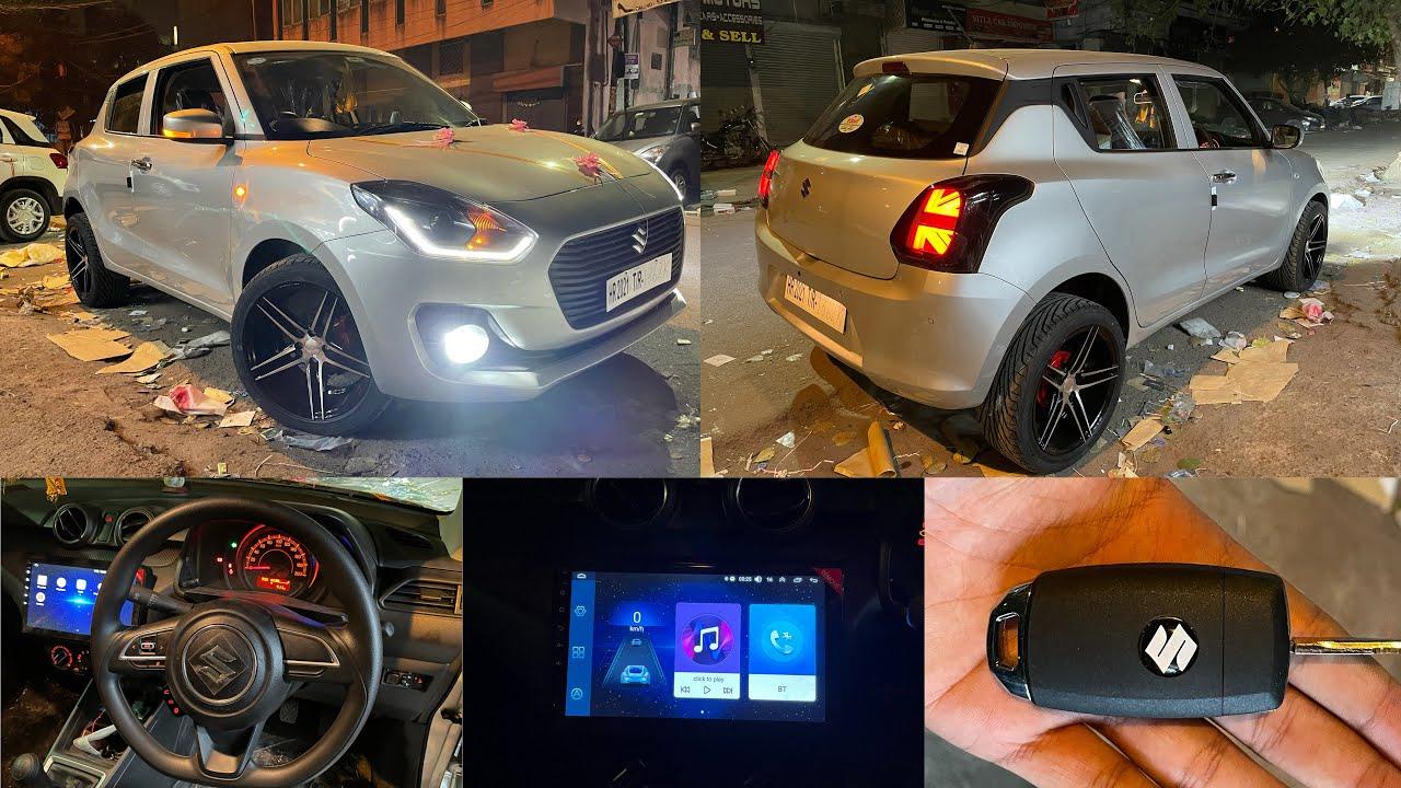 "Swift Lxi modified | mini cooper style back light in swift | 17"" alloys in swift lxi |Modified swift"