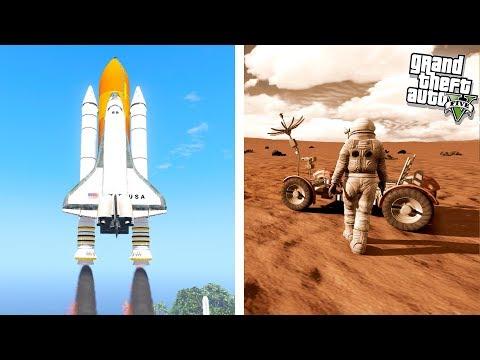GTA 5 Space Expansion - Landing on Mars!