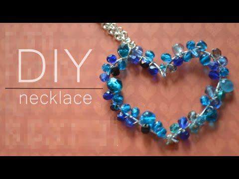 DIY : heart necklace