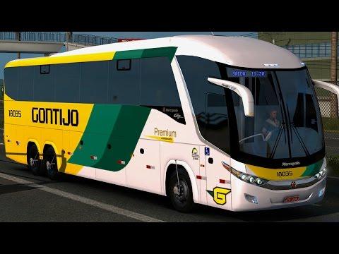 Euro Truck Simulator 2 - Viação Gontijo - SÃO PAULO X REGISTRO - G7 1200 l DETAIL MAP► G27
