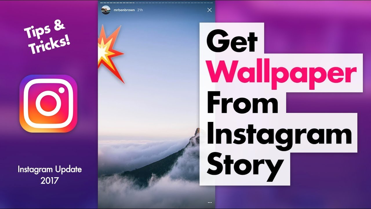 How to Get Perfect Wallpapers from Instagram Story - YouTube