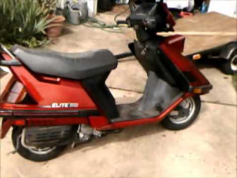 1986 honda elite 150d for sale youtube. Black Bedroom Furniture Sets. Home Design Ideas