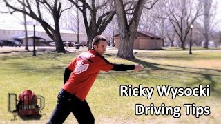 ricky wysocki disc golf tips utah open part 3 driving