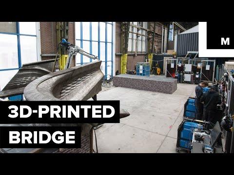 Steel Bridge 3D Printed by Robots