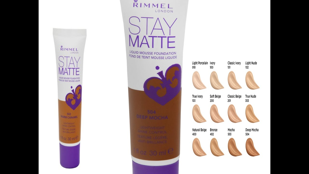 RIMMEL STAY MATTE FOUNDATION DEMO AND REVIEW NEW SHADE 504 ...