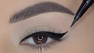 |Eyeliner tutorial for beginners |طريقة رسم الايلاينر للمبتدئات