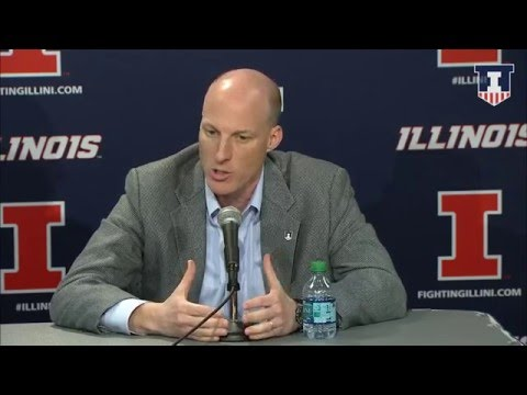 Whitman and Groce @IlliniMBB Press Conference 3/24/16