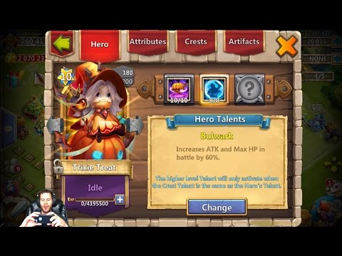 Trixie Treats Base Stats Evolved & Double Evolved Stats BEAST Castle Clash