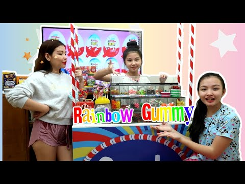 EATING ONLY RAINBOW GUMMY FOR A DAY CHALLENGE | THIS IS REALLY SICKENING PRANK!! | Aurea & Alexa