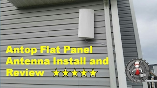 Antop Amplified Outdoor Indoor TV Antenna review and installation (FREE TV!)