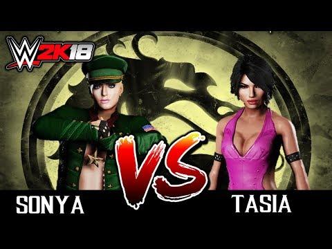 #05 WWE2K18: SONYA BLADE VS TASIA  [TORNEIO DO MORTAL KOMBAT NO WW2K18] thumbnail